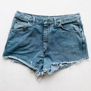 Vintage High Waisted Cutoff Denim Shorts